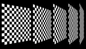 Комплект шахмат, checkered доск в перспективе Стоковые Фото