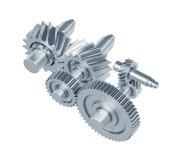 Комплект шестерней металла Стоковая Фотография