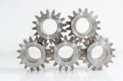 Комплект шестерней на изолированный Стоковые Фото