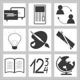 комплект школы иконы образования Бесплатная Иллюстрация