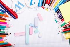 Комплект школы Стоковая Фотография RF