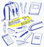 Комплект школьных принадлежностей soodles Бесплатная Иллюстрация