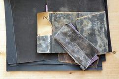 Комплект шкурки для древесины и металла Стоковые Фото
