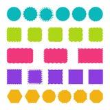 Комплект штемпелей, значков и шаблонов ярлыков Стоковые Фото