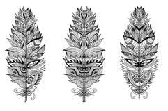 Комплект шлейфов нарисованных рукой также вектор иллюстрации притяжки corel Стоковые Изображения RF