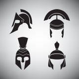 Комплект шлемов различных периодов Стоковые Фото