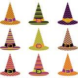Комплект шляпы хеллоуина Стоковая Фотография