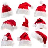 Комплект шляп Санта Клауса стоковая фотография