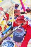Комплект щеток для красить Стоковая Фотография