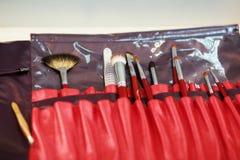 Комплект щеток для makeup& x29; Стоковые Фотографии RF
