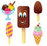 комплект льда плодоовощ шоколада cream Стоковое Изображение RF