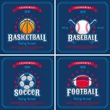 Комплект эмблемы спорта Стоковое фото RF