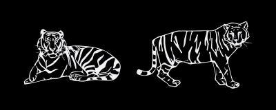 Комплект эмблемы тигра Стоковое Изображение RF