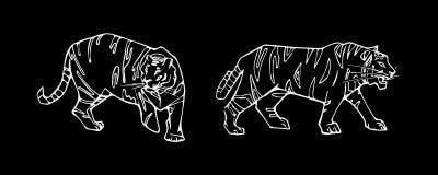 Комплект эмблемы тигра Стоковые Фотографии RF
