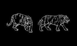 Комплект эмблемы тигра Стоковые Изображения RF
