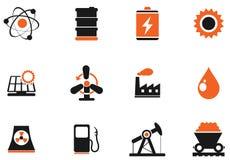 Комплект, энергия и индустрия значка Стоковая Фотография