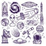 Комплект эскиза космоса Стоковая Фотография