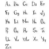 Комплект эскиза собрания прописных букв алфавита малой нарисованный рукой Стоковые Фотографии RF