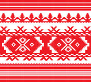 Комплект этнической картины орнамента в красном цвете Стоковые Фото