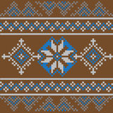 Комплект этнической картины орнамента в других цветах также вектор иллюстрации притяжки corel Стоковые Изображения