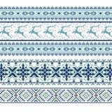 Комплект этнической картины орнамента праздника в других цветах Стоковые Фотографии RF