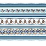 Комплект этнической картины орнамента праздника в других цветах Стоковое Фото
