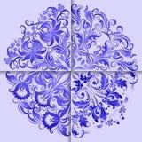 Комплект элегантных предпосылок с орнаментом круга Стоковое Фото