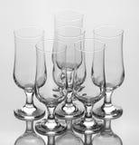 Комплект 6 элегантных пустых стекел Стоковая Фотография RF