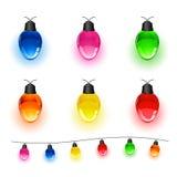 Комплект электрических лампочек иллюстрация вектора