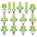 Комплект электрической лампочки Eco Стоковое Фото