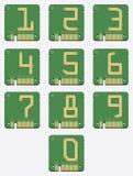 Комплект электронного номера, цепи, цифров, вектора Стоковые Фотографии RF