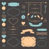 Комплект элемента свадьбы Стоковое Изображение RF