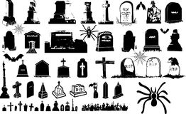 Комплект элемента хеллоуина Стоковое Изображение