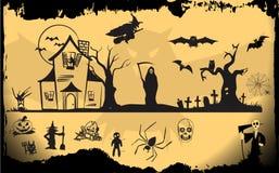Комплект элемента хеллоуина Стоковое фото RF