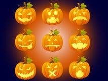 Комплект элемента хеллоуина Стоковые Фото