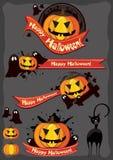 Комплект элемента хеллоуина Стоковая Фотография