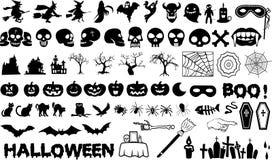 Комплект элемента хеллоуина Стоковое Изображение RF