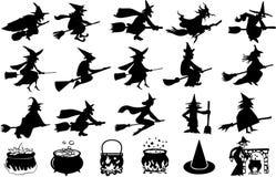 Комплект элемента хеллоуина Стоковые Фотографии RF
