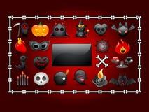 Комплект элемента хеллоуина Стоковое Фото