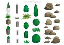 Комплект элементов ландшафта Стоковые Фотографии RF