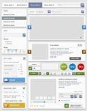 Комплект элементов веб-дизайна. Онлайн магазин. Стоковые Фотографии RF