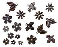 Комплект элементов винтажного металла декоративных Стоковые Фото