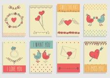 Комплект элементов влюбленности декоративный Стоковые Изображения