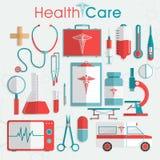 Комплект элементов здравоохранения Стоковое Фото
