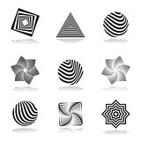 Комплект элементов дизайна. Абстрактные графические значки. Стоковая Фотография RF
