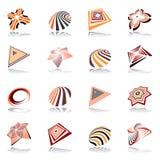 Комплект элементов дизайна. Абстрактные значки. Стоковые Фото