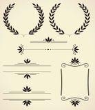 Комплект элементов дизайна и украшения страницы. Стоковое Изображение RF