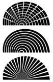 Комплект элементов дизайна конспекта 3 абстрактных родовых Решетка rect иллюстрация штока