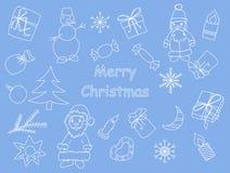 Комплект элементов дизайна на рождество и Новый Год иллюстрация штока
