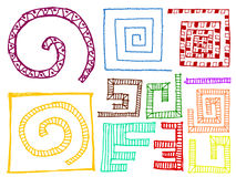 Комплект элементов дизайна doodle Стоковое Изображение